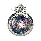 Galaxy pdcket Montre Collier Whirlpool Galaxy astronomie Cadeau pour astronome Montre...