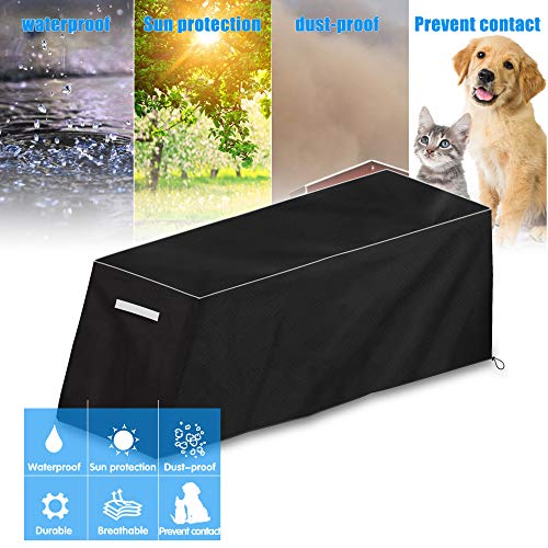 Sit-up board cover, suitable for sit-up board, weight bench, weight chair, fitness bench protection, waterproof, dustproof and sun protection, prevent pets, black, d50in w16in h21in