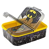 Boîte à déjeuner Batman pour enfant - Boîte à sandwich - Bento - La Reine des Neiges Anna et Elsa Frozen PJ Masks, Spiderman, Avengers, Mickey, Paw Patrol - Sans BPA - Garderie - Anniversaire (Batman)