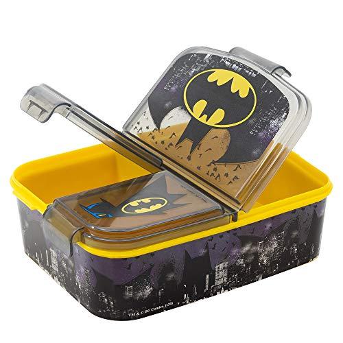 Fiambrera para niños, diseño de Batman, Fiambrera Bento, lata de Frozen Anna y Elsa Frozen PJ Masks, Spiderman, Los Vengadores, Mickey, Paw Patrol, sin BPA, guardería, cumpleaños (Batman)