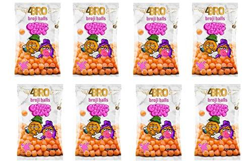8 Tüten a 75g 4Bro Broji Balls Bubble Gum 75g Maisbällchen 4 bro ( 8x75g)