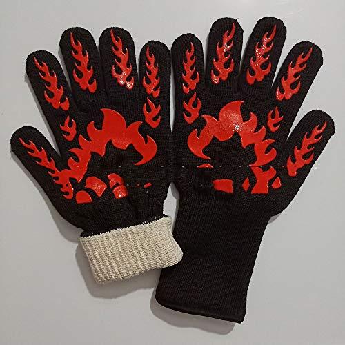 ERWEF 500 Grad-Hochtemperaturbeständige Handschuhe, Feuerbeständige und Antiverbrühschutz, Fisch Barbecue Grill Mikrowelle Ofen bietet Schutz