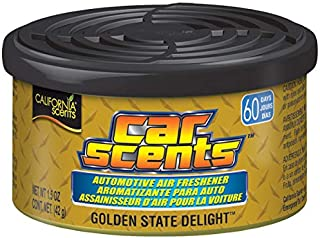California Scents Car Scents Can Air Freshener Eco-friendly Odor Neutralizer for Car, Truck or Van, Golden State Delight, ...