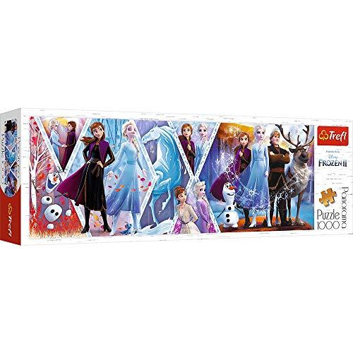 Trefl 29048 Disney Frozen II, Panorama Puzzle 1000 Teile