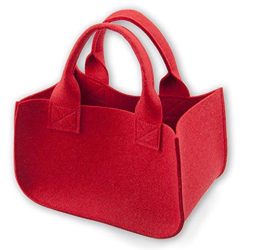 luvthings Geschenk Verpackung (Geschenkkörbchen) - Kleine Tasche aus 100% Wollfilz (Merinowolle) - mit Wunschname