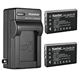 Kastar 2-Pack NP-120 FNP-120 Battery and AC Wall Charger Replacement for Zohulu 4K Infrared Night Vision 24.0 Megapixel