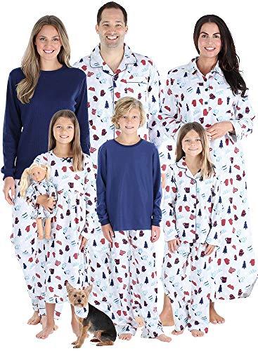 SleepytimePJs Matching Family Christmas Pajama Sets, Hot Cocoa Flannel - Kids Dress, 8