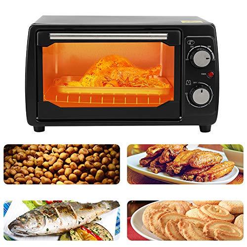 Horno portátil, horno multifuncional para hornear con función de temporización para electrodomésticos de cocina para caravanas para el hogar(pink)
