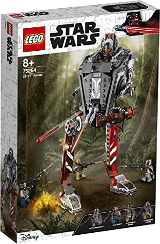LEGO 75254 StarWars AsaltadorAT-ST, Juguete de Construcción para Niños a Partir de 8 años con 4 Mini Figuras y 4 Armas