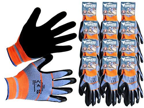 Bada Bing 12er Set Gartenhandschuh Vorteilspack EN 420 Arbeitshandschuh PU Ultra Flex Größe 10 Grip Struktur Handschuhe Für Den Garten Zum Arbeiten Im Beet Für Handwerker Wasserabweisend Sparset 28
