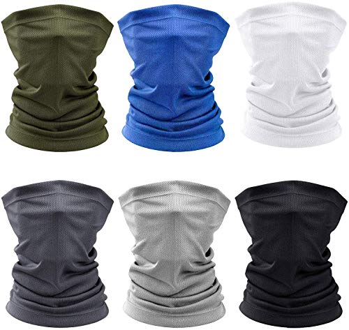 SUPRBIRD 6 Stück Bandanas Multifunktionstuch Schal - Elastiche Multifunktion Stirnband Gaiter Balaclava Gesichtsmaske Kopfbedeckung UV Residenz für Yoga Laufen Wandern Radfahren Motorradfahren