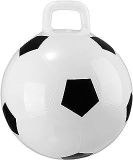STOBOK Hopping Ball in Soccer Ball Style, Hopper Ball Jumping Ball with Handle Inflatable PVC Bouncing Ball for Children 45cm