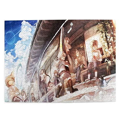 Picture Puzzle 520 Piece,Rompecabezas De Inazuma Eleven, Grandes Rompecabezas Personalizados para La Formación De Equipos,52.2x38.6cm