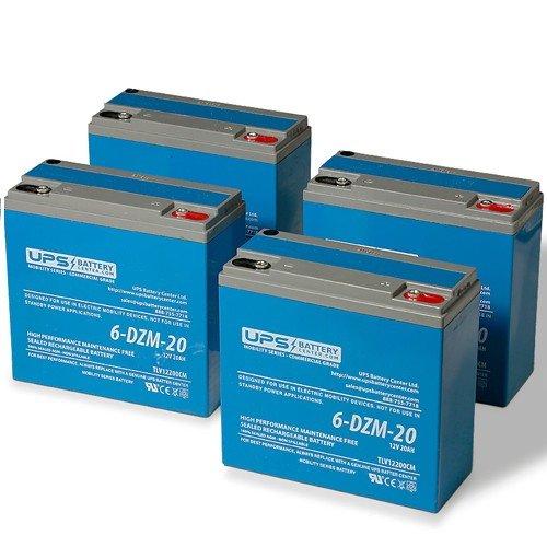48V 20Ah eBike/Scooter Battery Pack - 6-DZM-20 12V 20Ah Deep Cycle Batteries
