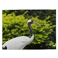 鶴の写真 500ピース ジグソーパズル ピクチュアパズル 木製の風景パズル、人物 動物 風景 漫画絵のパズル 大人の子供のおもちゃ家の装飾風景パズル Puzzle 52.2x38.5cm