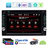 Double 2 Din Bluetooth Auto-Hifi-Anlage im Schlag-DVD-CD FM / AM-Autoradio Digital Media Receiver 6.2 Zoll 5-Touch-Touchscreen-Display GPS-Navigation-Steuerger?t USB SD AUX IN Wireless...