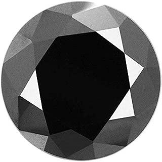 2 ct loose black diamond