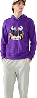 Mens Hooded Sweatshirt Hooded Long Sleeve Couple Tide Casual street Embroidered solid color simple coat