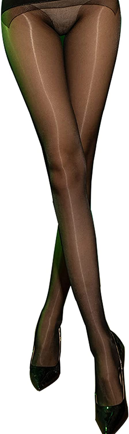 5D Oil Shiny Pantyhose for Women Sheer Transparent Silk Nylon Sparkling Bright Glossy Shine Wet Look Hot Girl Shaping Tights