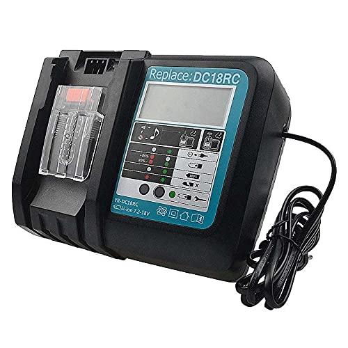 Cargador de batería rápido para Makita BL1830 BL1840 BL1850 14.4V-18V 3A (pantalla LCD)