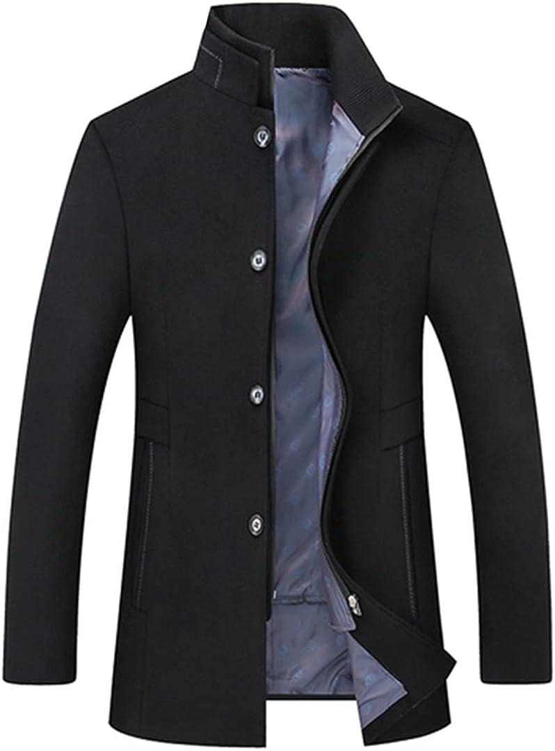Winter Wool Coat Slim Fit Jackets Mens Casual Warm Outerwear Jacket And Coat Men Pea Coat