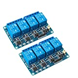 Aokin 2 Pcs 4 Channel DC 5V Relay Module with Optocoupler for Arduino UNO R3 MEGA 2560 128...