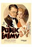 The Public Enemy Movie Poster (27 x 40 Inches - 69cm x 102cm) (1931) -(James Cagney)(Edward (Eddie) Woods)(Leslie Fenton)(Joan Blondell)(Mae Clarke)(Jean Harlow)