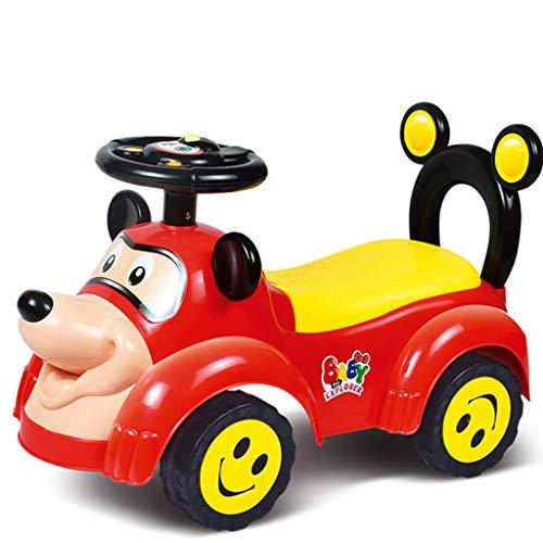 Unbekannt Kinderwagen Twist-Auto der Kinder mit Musikauto-Baby vierrädriges Babyauto (Farbe : E)