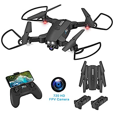Jettime SR926 WiFi 720P HD FPV Drone for kids, Live Video Follow Me, Gesture Control and more than 12 functions Intelligent Quadcopter for Beginners(Black)