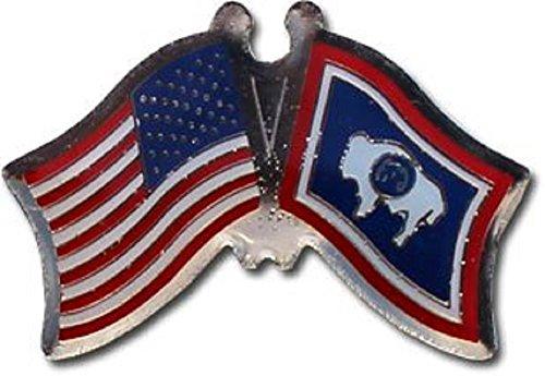 Wholesale Pack of 3 USA American State Wyoming Flag Bike Hat Cap lapel Pin