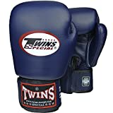 Twins Boxhandschuhe, Leder, blau, Muay Thai, Leather Boxing Gloves, MMA