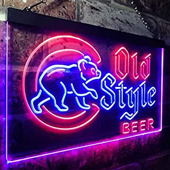 cubs old style neon sign