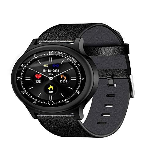 FKYHU Fitness Tracker Reloj Inteligente de aleación de Zinc IP68 para natación, Ritmo cardíaco, Monitor de presión Arterial, Monitor de Actividad física en Espera, Pulsera Inteligente, Black Belt