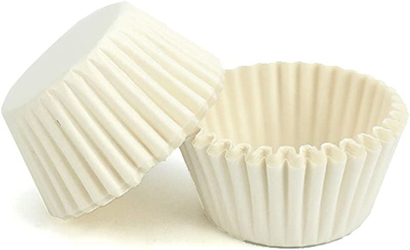 Mini Muffin Liners 400 Count Paper Baking Cup Disposable Cupcake Liners For Baking White