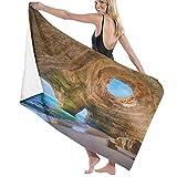 XINGAKA Toallas de baño,de Playa,Cuevas del Algarve Portugal Pequeña Playa Grandes cuevasMuy Absorbente y Suave, Adecuado para hogares de Yoga, Fitness, Camping y Deportes al Aire Libre...