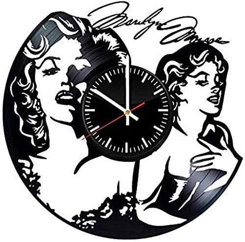 ZZLLL Reloj de Pared de Vinilo Reloj de Pared con Disco de Vinilo Cumpleaños Retro Año Nuevo Navidad Regalo de cumpleaños Personalidad Creativa Mural