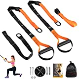 Bodyweight Resistance Trainer Kit Training Straps Set, Full Body Workouts w/Wall Mount Bracket for Door, Pull...