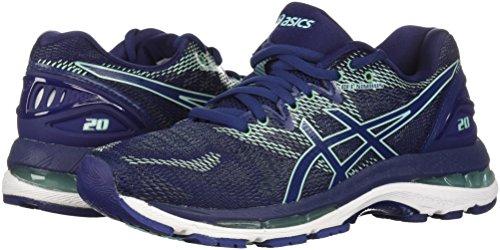 ASICS Women's Gel-Nimbus 20 Running Shoe, indigo blue/indigo blue/opal green, 7 Medium US 6