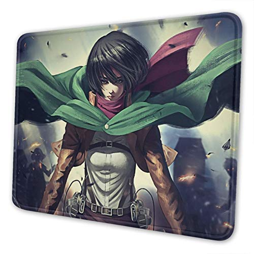 Attack On Titan Mikasa Mouse Pad Japan Anime Non-Slip Mousepad Gaming Mouse Mat for Computer Laptop 7.9x9.5 inch