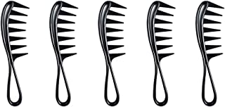 Exceart 5pcs Wide Tooth Comb Fish Bone Comb Multifuncional Combing Brush Hair Styling Tool for Hair Stylist Barber Salon Home