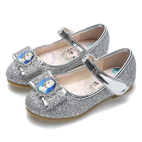 YOSICIL Zapatillas de Baile Bailarinas para Niñas Zapatos de Lentejuelas con Velcro...