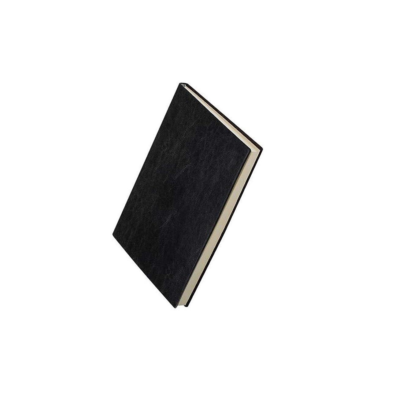 XIONGHAIZI 25k320ページビジネスレザーノートブック、オフィスノートブックノートブック、ブラック、ブラウン、ブルー (Color : Black)