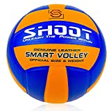 """Construction Type: Pasted """"Genuine Leather""""   HD-Graphics Lining – 3 PLY   Size 4   18 Panel Standard Construction Butyl Bladder for excellent Air-Retention & Rebound Outdoor: Hard ground with or without Grass Indoor: Volleyball Court Ideal for Train..."""