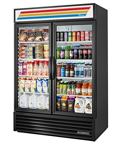 True GDM-49-HC~TSL01 Double Swing Glass Door Merchandiser Refrigerator with Hydrocarbon Refrigerant and LED Lighting, Holds 33 Degree F to 38 Degree F, 78.625' Height, 29.875' Width, 54.125' Length