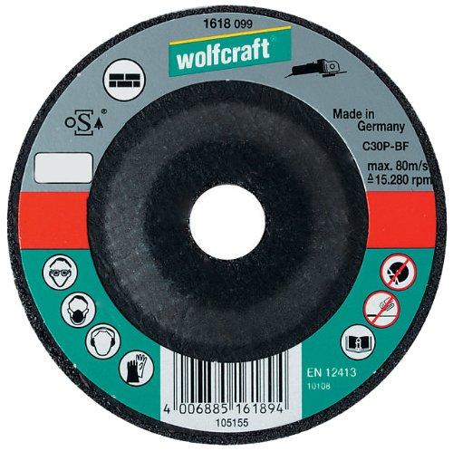 Wolfcraft 1621099 - Disco de corte para amoladora para piedra, cubo deportado, granel Ø 115 x 2,5 x 22,23 mm