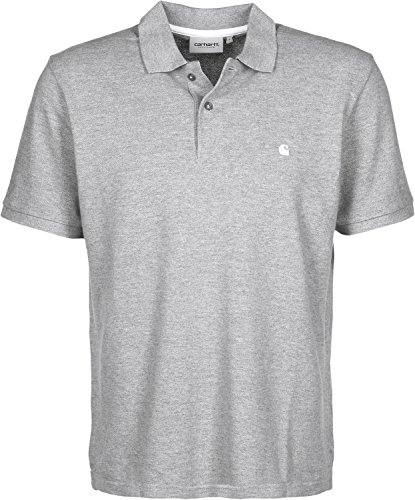 Carhartt WIP Herren C Logo Poloshirt, grau, XL EU