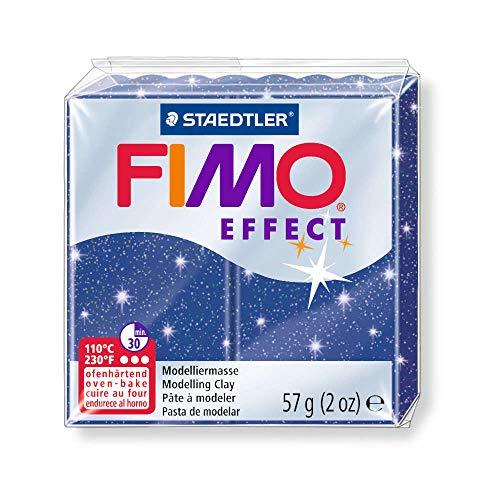Staedtler - A0500952 - Loisirs créatifs - Pâte à modeler FIMO Effect - Bleu métal (8020-302)
