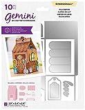 Crafters Companion GEM-MD-Dim-Milk Gemini - Troquel de metal dimensional, caja decorativa para recuerdos - cartón de leche, Plateado, talla única