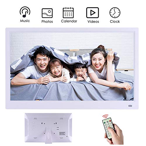 WHJ@ Digital Photo-Frame,Digital Photo Frames,720P Video Playback Resolution 1024 600 Infrared Remote Control 10.1 Inches