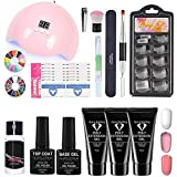 Poly Extension Gel Nail Kit, Nail Art Extension Gel Set, Nail Gel Kit Professional Nail Art Set, Para Principiantes Y Técnicos Profesionales Set De Manicura, Con Mini Lámpara De Uñas